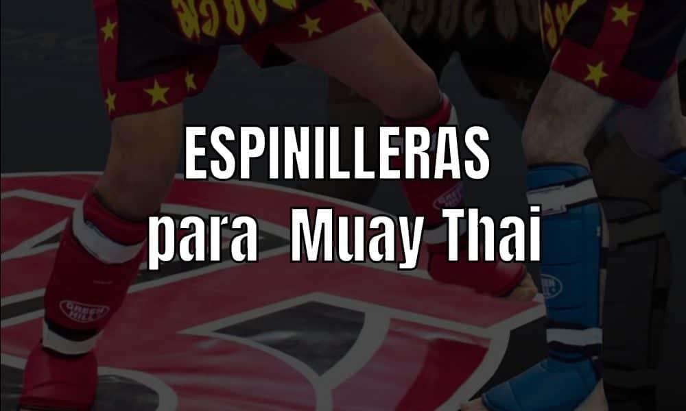 Espinilleras para Muay Thai