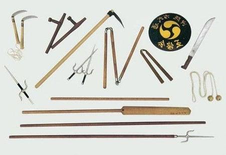 armas utilizadas en artes marciales