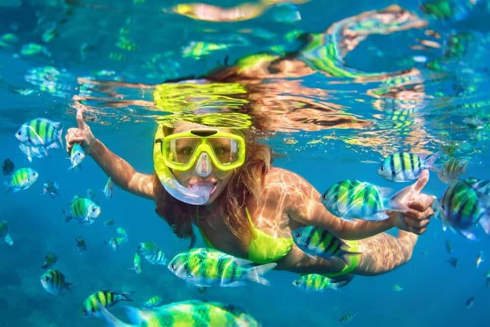comprar mascaras buceo bajo el agua