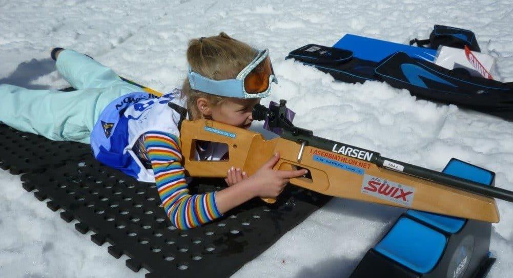 Biatlon laser para niños
