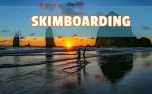 skim board skate en olas
