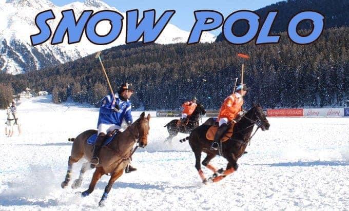 snowpolo caballos nieve